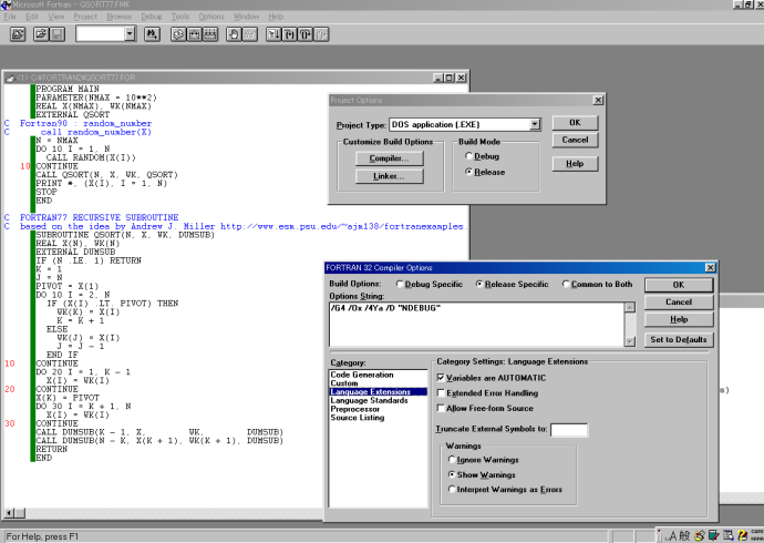 Microsoft Fotran PowerStation 1.0