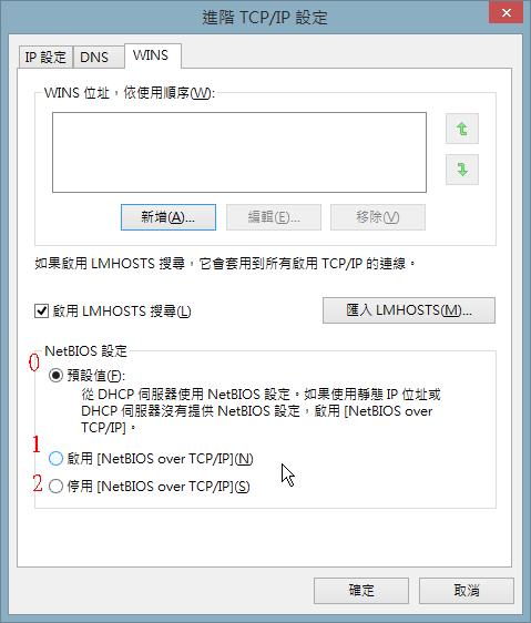 進階 TCP/IP 設定