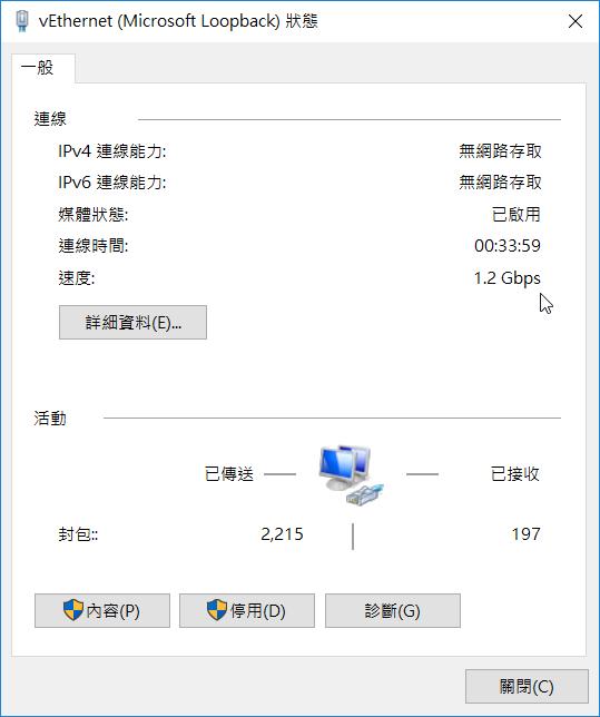 Microsoft Loopback 速度