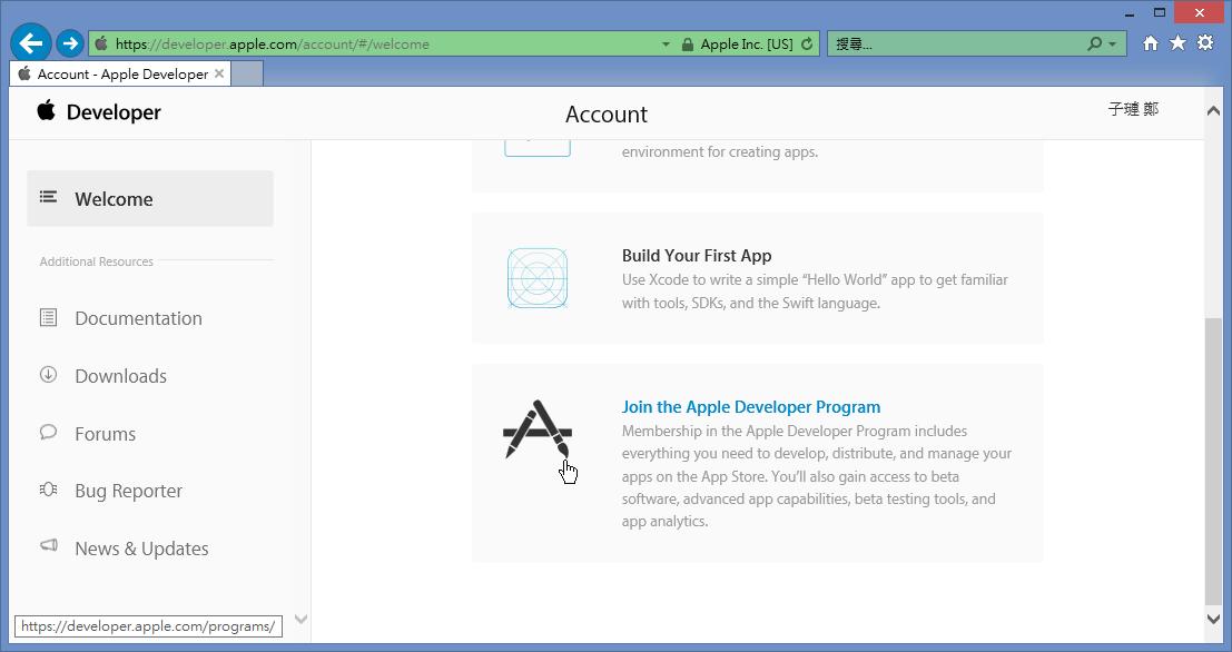 Join Apple Developer Program