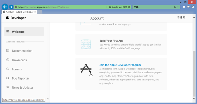 Join Apple Developer Program
