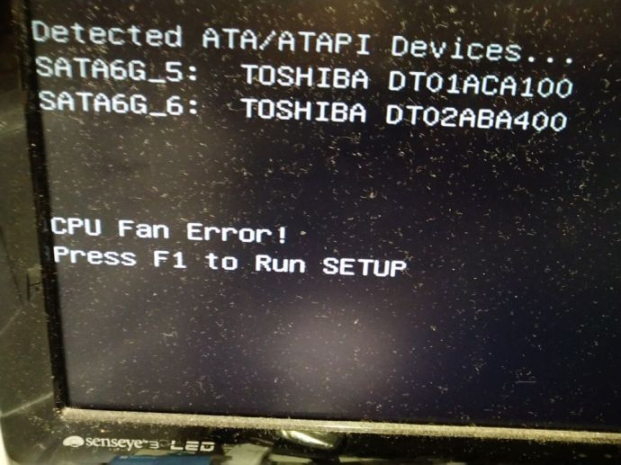 CPU Fan Error